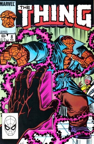 Todays #desktop features #TheThing in a blue trenchcoat being attacked by some pink energy tendrils from a mystery man. #Marvel #comics<br>http://pic.twitter.com/R5d0SBdVV5