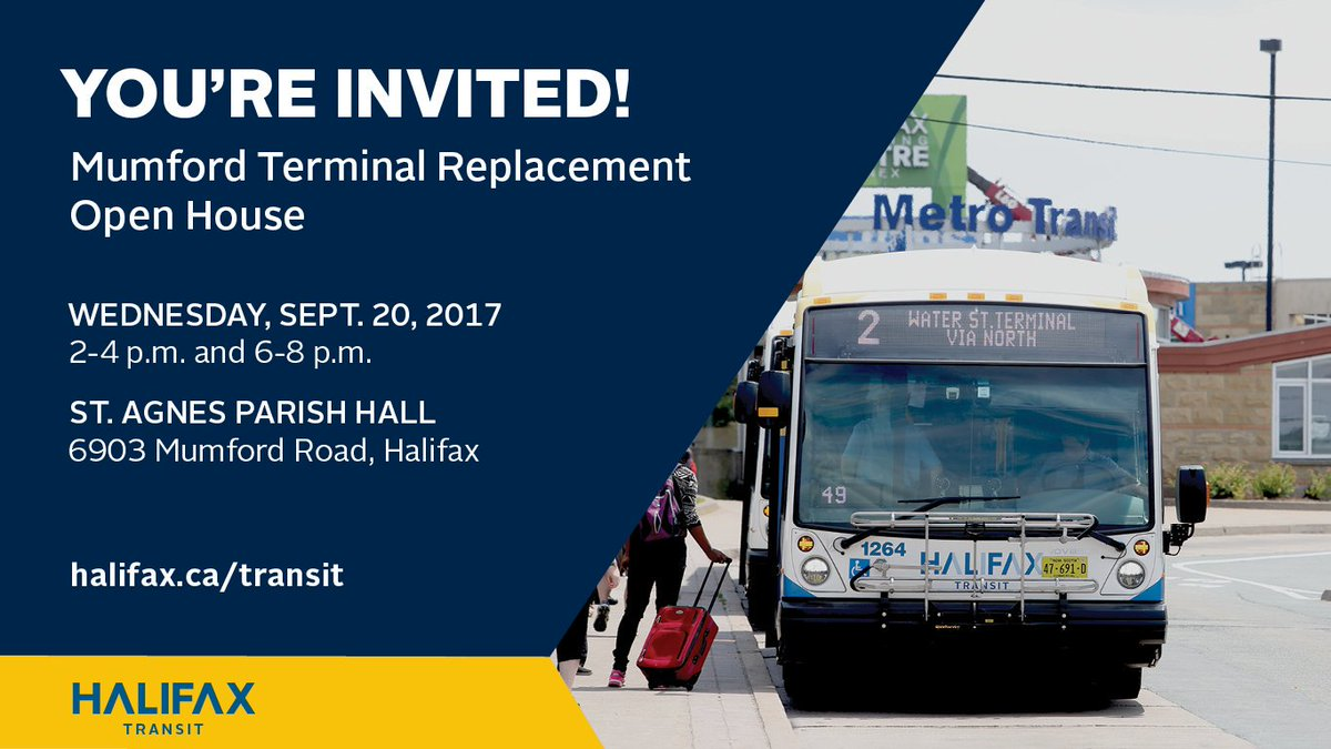 Via @hfxtransit: TODAY: You&#39;re invited to Mumford Terminal Replacement Open House! Review possible options &amp;…  http:// ow.ly/S4Qv30fifIn?ut m_source=dlvr.it&amp;utm_medium=twitter &nbsp; …  #t <br>http://pic.twitter.com/D9n3EYvk4x