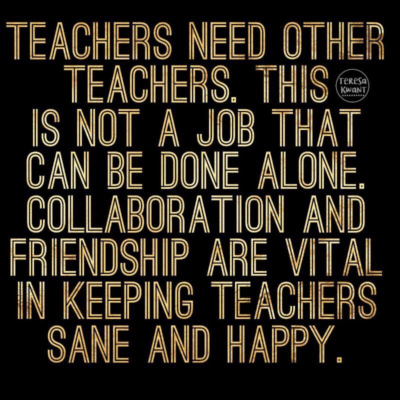 Teachers need other #teachers <br>http://pic.twitter.com/BQ0lLKvqGW