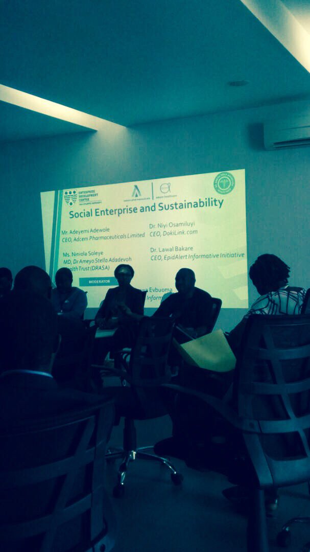 Being able to deliver information across to consumers can influence behaviour change - Dr Niyi Osamiluyi, CEO @dokilink. #SocialEnterprise <br>http://pic.twitter.com/TLo2SSATXj