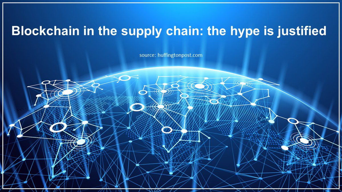 #Blockchain in the #supplychain: the hype is justified, Know more here:  http:// bit.ly/2fbCn5M  &nbsp;   via @HuffPost #logistics<br>http://pic.twitter.com/2HrIKPS3eU