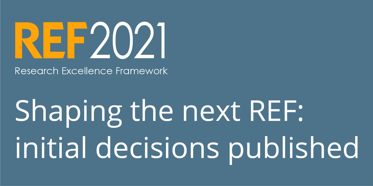 Have you all read the initial decisions information on #REF2021?  http://www. hefce.ac.uk/rsrch/ref2021/ initial/ &nbsp; … <br>http://pic.twitter.com/h4IqMtjICA