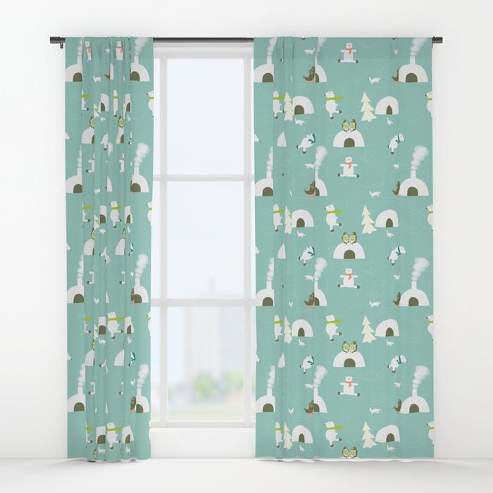Here&#39;s my &quot;Polar bear skate-off&quot; pattern as curtains. Somthing for the kids room at #Christmas maby?  https:// society6.com/product/the-po lar-bear-skate-off-fabric-pattern_print#s6-7628315p4a1v45 &nbsp; …  #Sew #Fabric <br>http://pic.twitter.com/epJ3YHKaKM