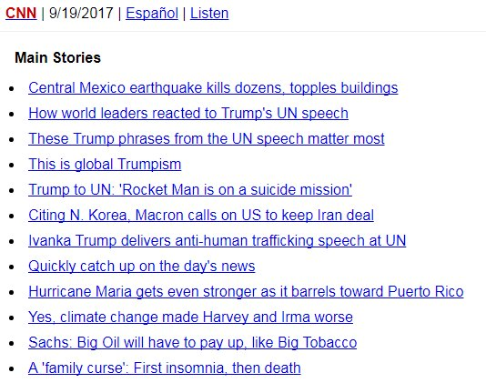 Looking for news updates on a weak phone connection? Get the text-only version of CNN's top stories, also en Español https://t.co/HkoJyA4UZZ