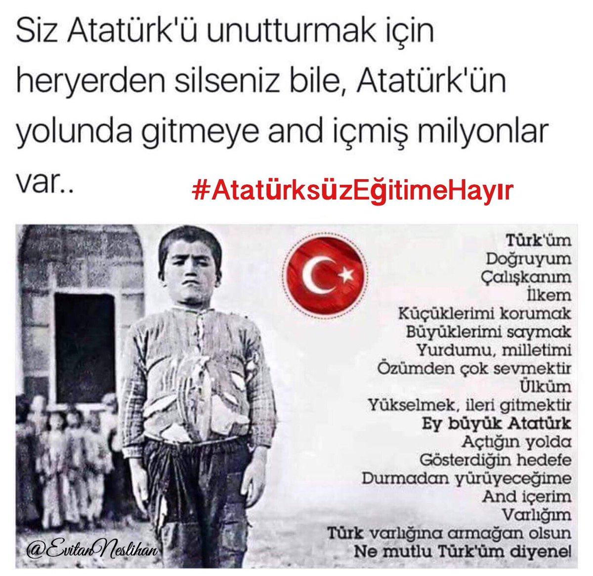 #AtatürksüzEğitimeHayır https://t.co/Z0G...