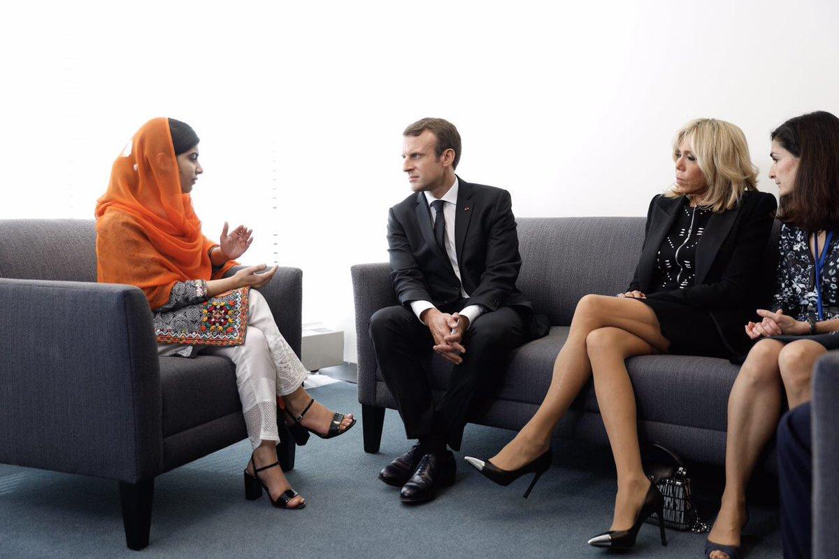 Soutien à @Malala dans son combat courageux et nécessaire pour l'éducation des filles dans le monde.