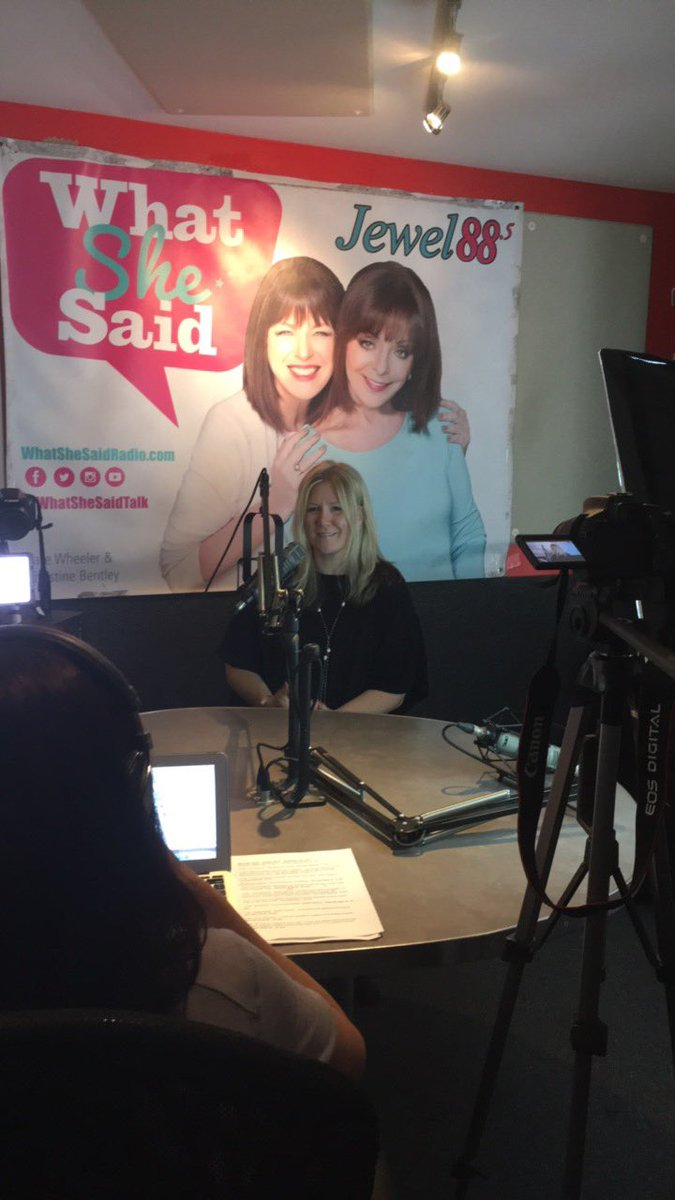 First stop on the #beyou tour! Big shout out to @WhatSheSaidTalk for helping us spread the word and empower young girls :) xo<br>http://pic.twitter.com/8e3LAYku1Q