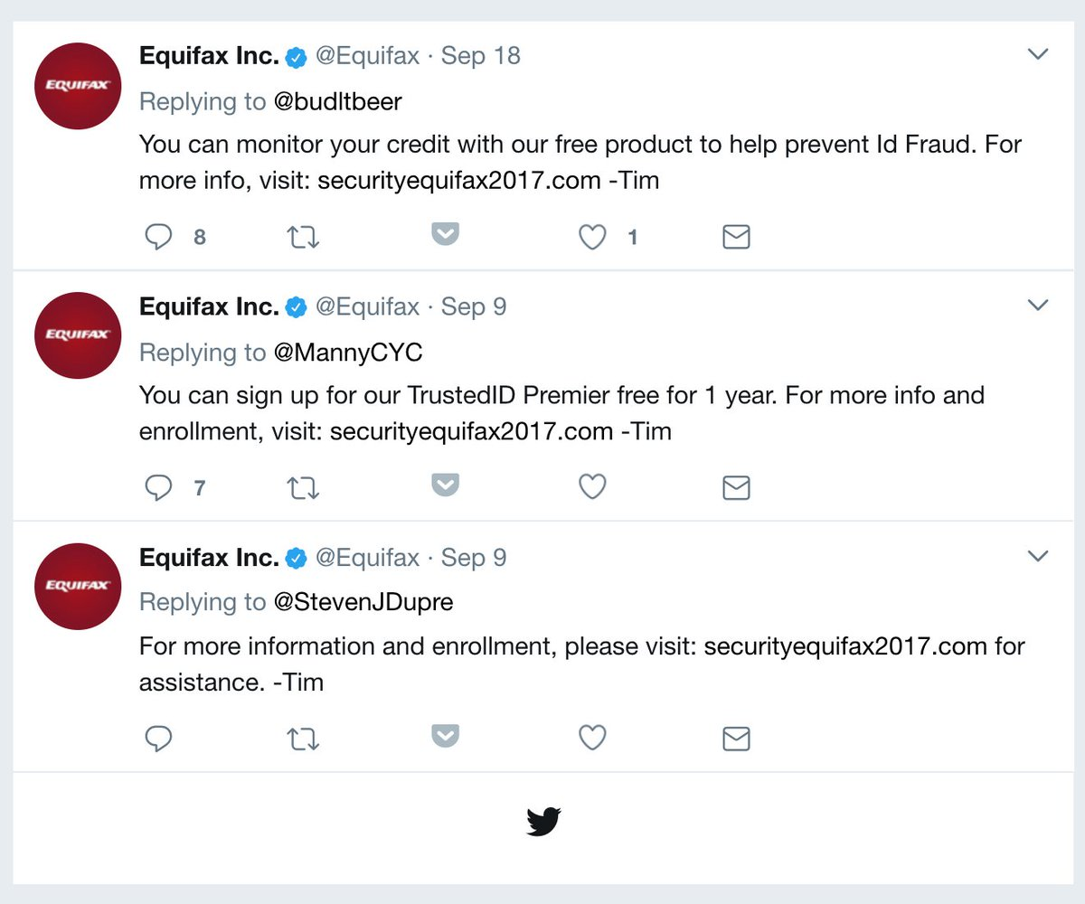 Equifax has been directing victims to a fake phishing site for weeks
