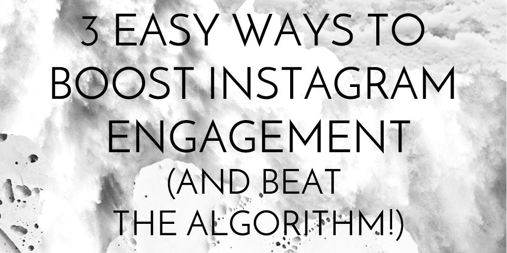 3 Easy ways to boost engagement and beat the Instagram algorithm update  http://www. blacklabelsocial.com/boost-engageme nt-beat-the-instagram-algorithm/ &nbsp; …  #socialmedia #businesstips <br>http://pic.twitter.com/aimeilpxv0
