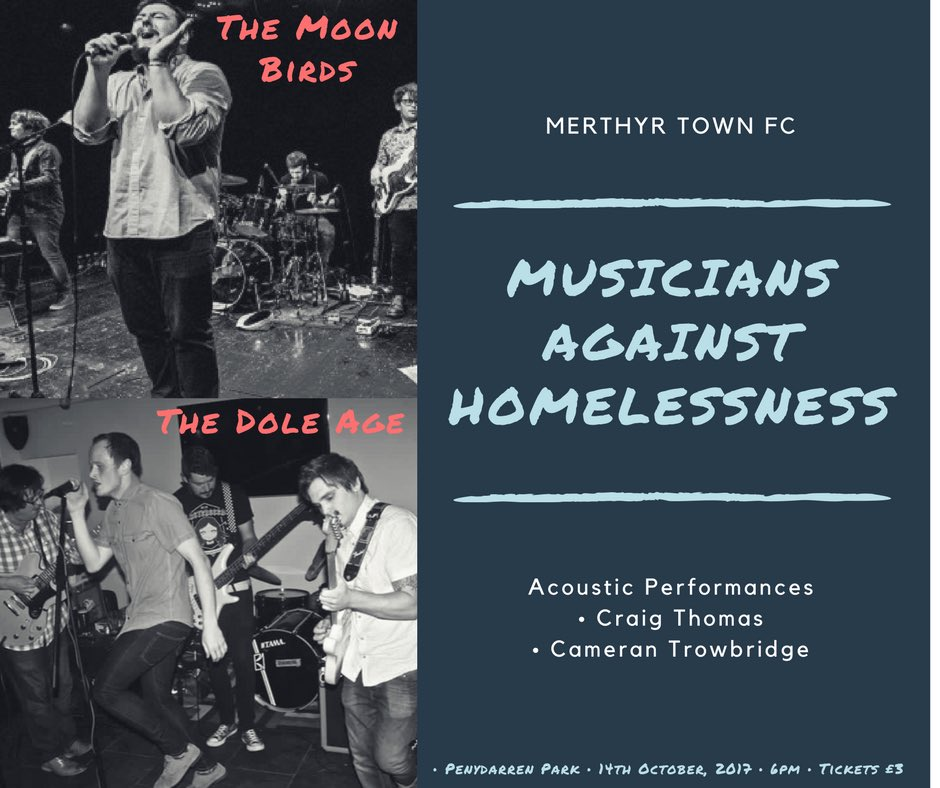 What an event this will be! Limited tickets remaining!  http://www. wegottickets.com/event/416891  &nbsp;   @TheMoonBirds @TheDoleAge #livemusic #charity #merthyr<br>http://pic.twitter.com/u3zInTaUIM