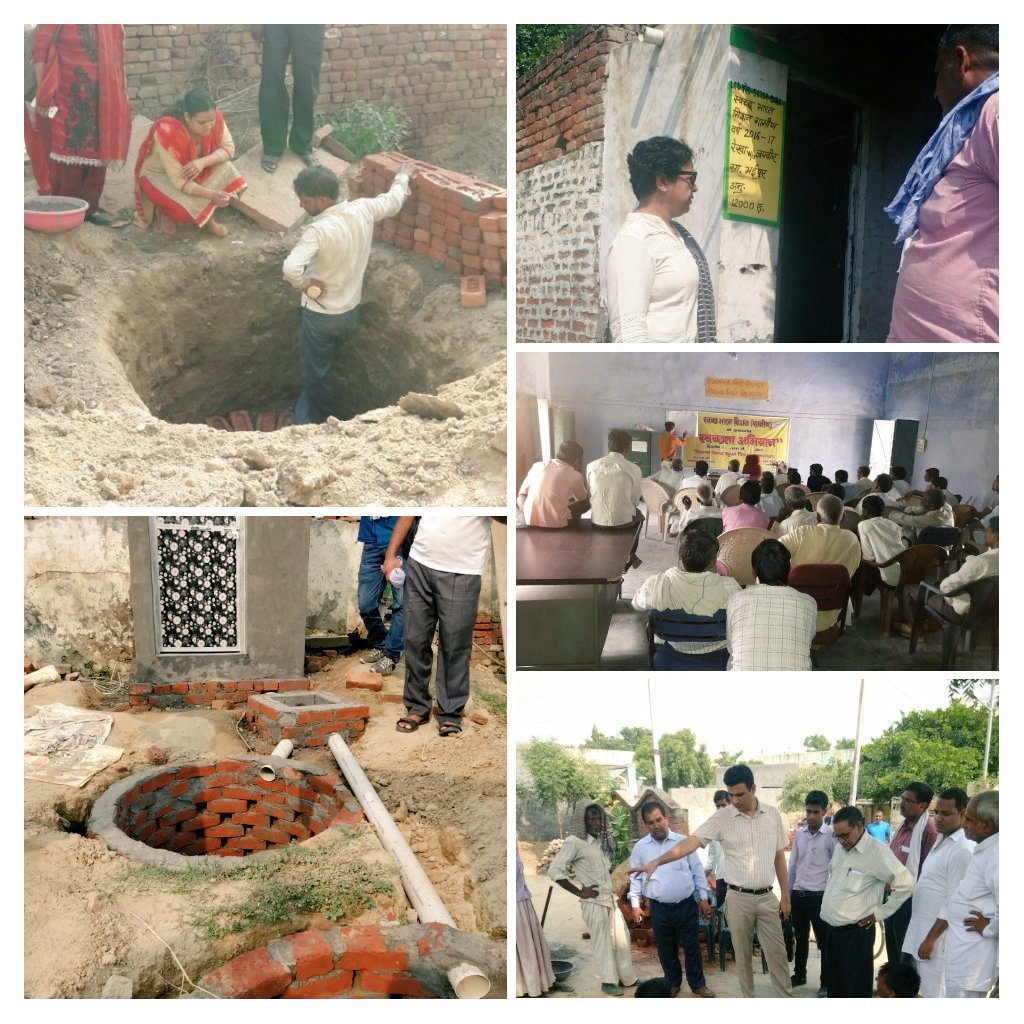 #Toilet construction, #ODF  verification, mason&#39;s training and triggering at #Bulandshahar district on Day 5 under #SwacchataHiSewa<br>http://pic.twitter.com/vTUvVjQofj