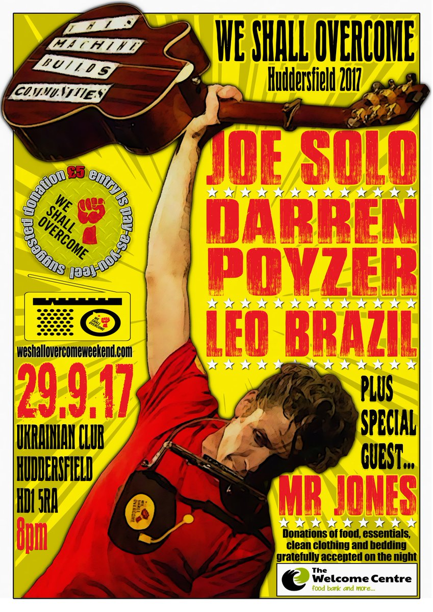 Sept 29th #huddersfield  http://www. guerrillapromotions.co.uk/we-shall-overc ome-2017-september-29th.html &nbsp; …  @joesolomusic @poyzer @leobraziltwitch @WeShallWeekend @WSODewsbury @Welcome_Hudds #charity <br>http://pic.twitter.com/xlm9qsMdTe