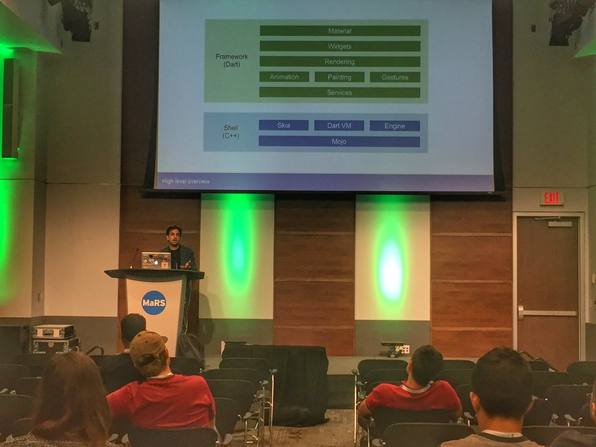 It's #CodeLab time at #AndroidTO! Here's @FaisalAbid teaching the crowd about the amazing @flutterio  #DevFest17 #GoogleDevs<br>http://pic.twitter.com/tx7RPaZiFJ