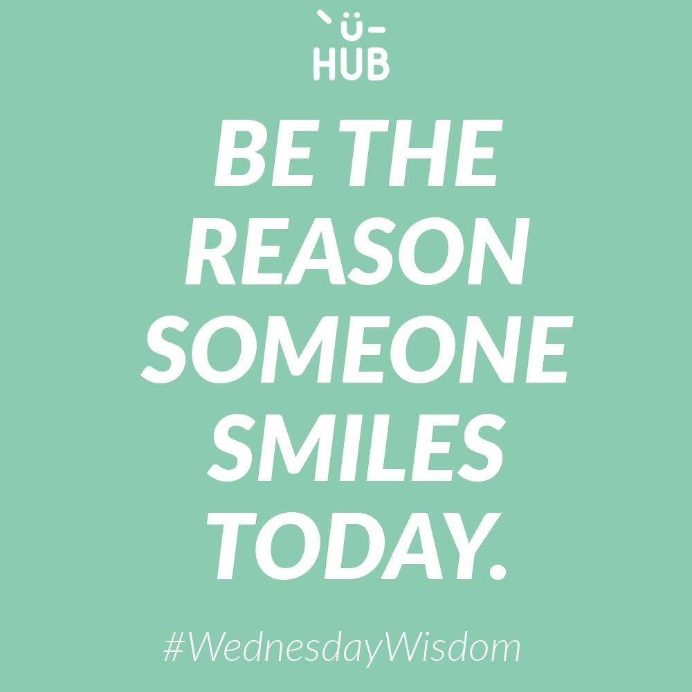 Be the reason someone smiles today. #WednesdayWisdom #uhub #ushareugain #sharing #ubc<br>http://pic.twitter.com/tHkEDdWMSf