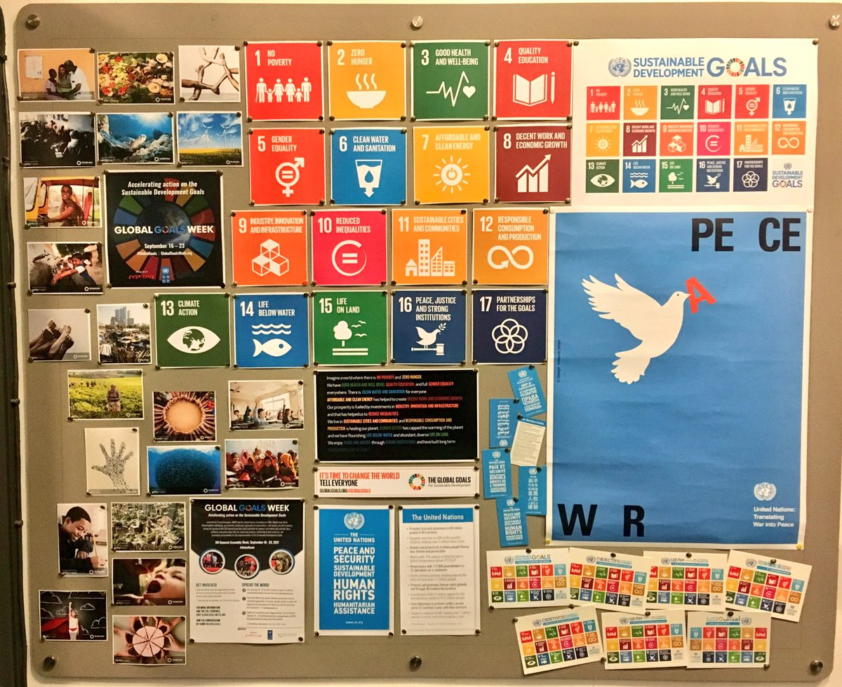 New @TheGlobalGoals display to get pupils engaged with @TheWorldsLesson &amp; @GlobalGoalsUN #TeachSDGs #geographyteacher <br>http://pic.twitter.com/DO0twTksd3