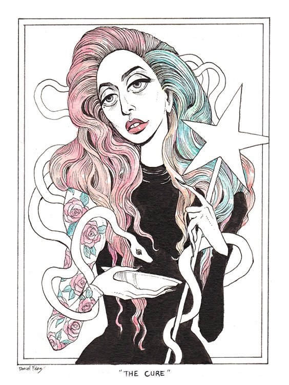 @ladygaga I hope you can recover and come back stronger than ever. This artwork is dedicated to you #TheCure <br>http://pic.twitter.com/tWkrV82wjT