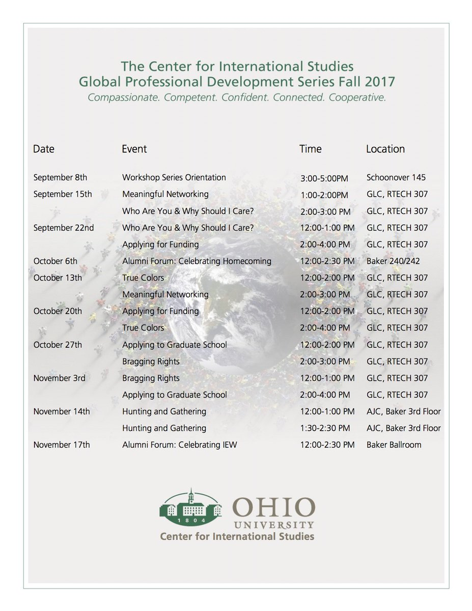 Save the date! Here is a list of all the Professional Development Series this semester. Hope to see you there! #leadership #development <br>http://pic.twitter.com/I0wldcB9GT