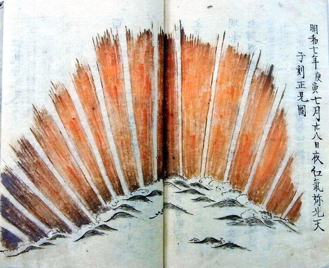 【太陽フレア】江戸時代の京都でオーロラ観測、史上最大級の磁気嵐か https://t.co/P11Rw4vG7p  伏見稲荷大社の経営を任されていた東羽倉家の日記をもとに規模を推定。幅は約1000キロに及び、天頂まで広がっていたという。