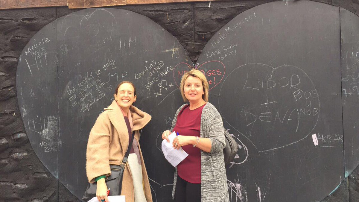Claudia's angels were here #margate #thelovingwall @kingstgreening https://t.co/U58AnurDyp