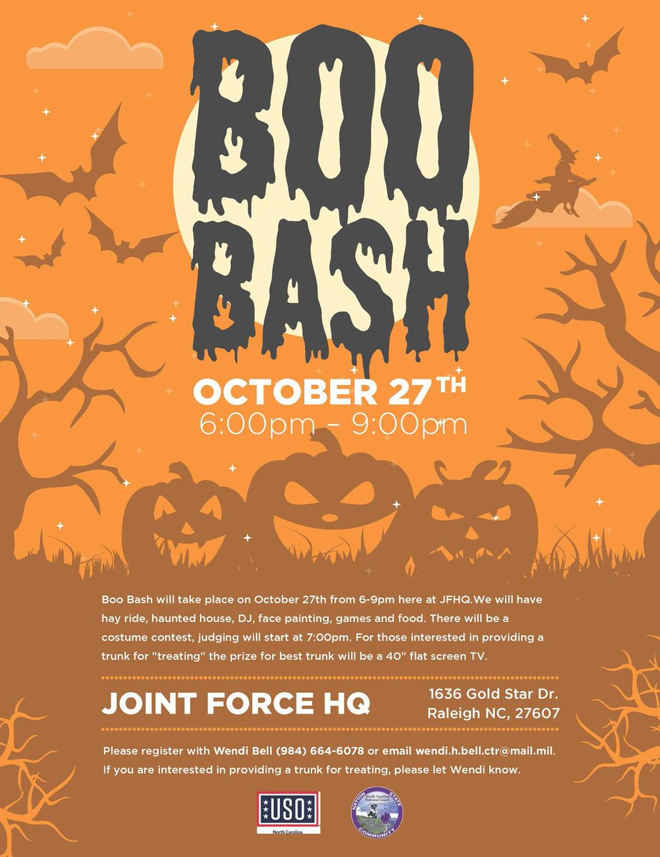 nc national guard on twitter halloween is right around the corner come join us for the ncngfamilys 2017 boo bash at jfhq on october 27th