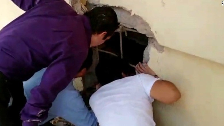 Moment kids found alive in collapsed school https://t.co/rAZxNtm8Ia