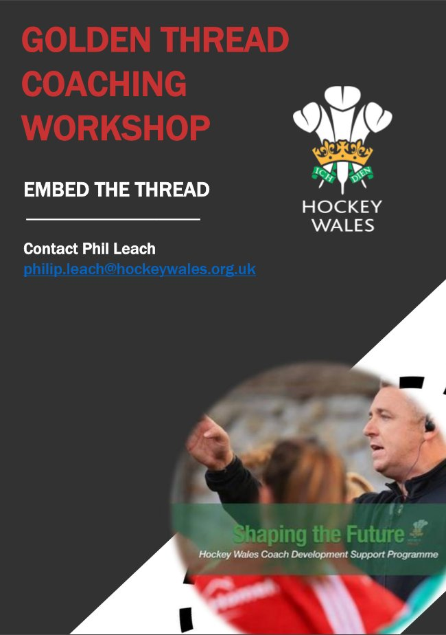 @HockeyWales Golden Thread Coaching Workshop  @BreconLeisure   Thursday 19th October  6pm - 9pm £25 pp #development #learning #coaching<br>http://pic.twitter.com/1FhkJw5tDY