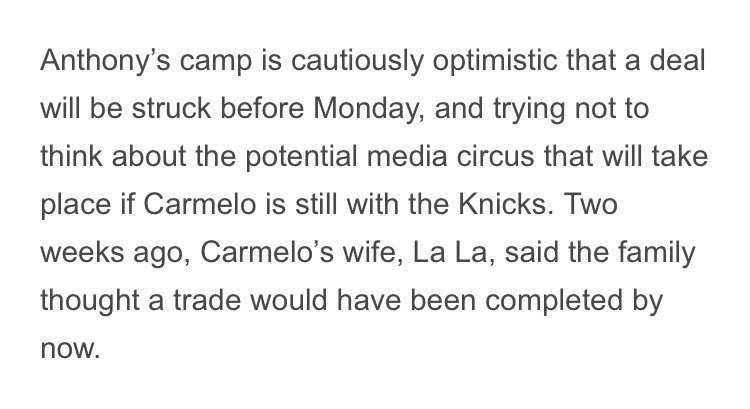 Knicks Media Day on Monday should be entertaining...   @FisolaNYDN posted this earlier this morning: https://t.co/BhBLKBWmOn