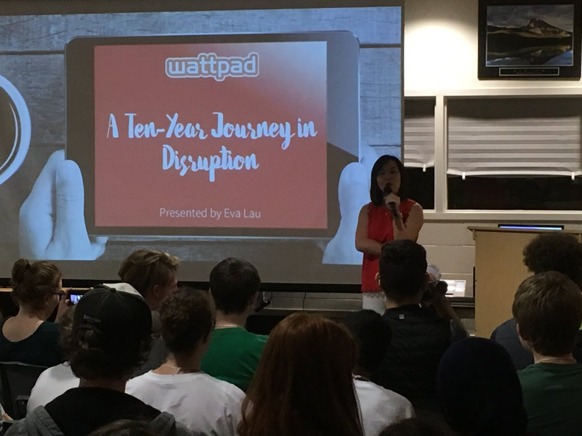 Two Small Fish Ventures @MrsEvaLau  sharing stories of disruption with our #innovate students. <br>http://pic.twitter.com/eYRCy4eTZl