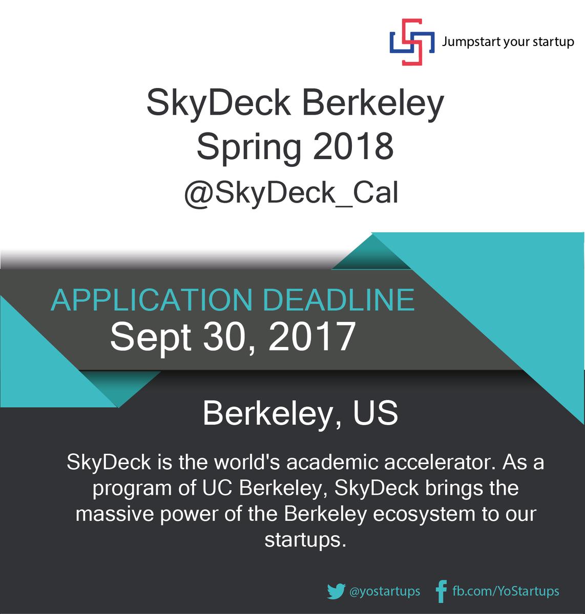 Checkout @SkyDeck_Cal bringing massive power of the Berkeley ecosystem to the #startups #accelerator #YoStartups  https:// goo.gl/F6Vhi7  &nbsp;  <br>http://pic.twitter.com/6exK0vAItC