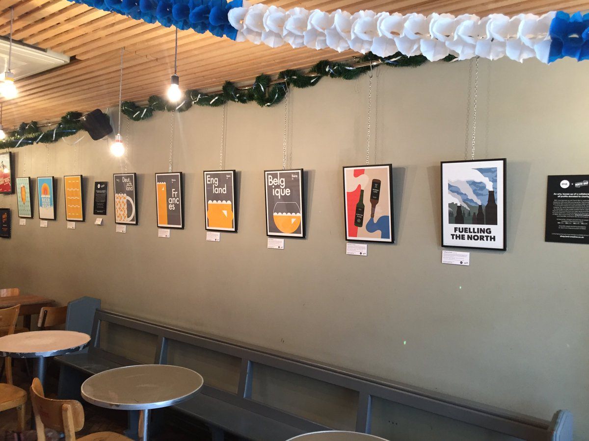 Join us at 6pm @NorthBarDrinks 24 New Briggate, #Leeds.  Our #charity prints are on the walls!  @stgemmashospice  http://www. shop.bml-creative.co.uk  &nbsp;  <br>http://pic.twitter.com/BL3BvHlBs3