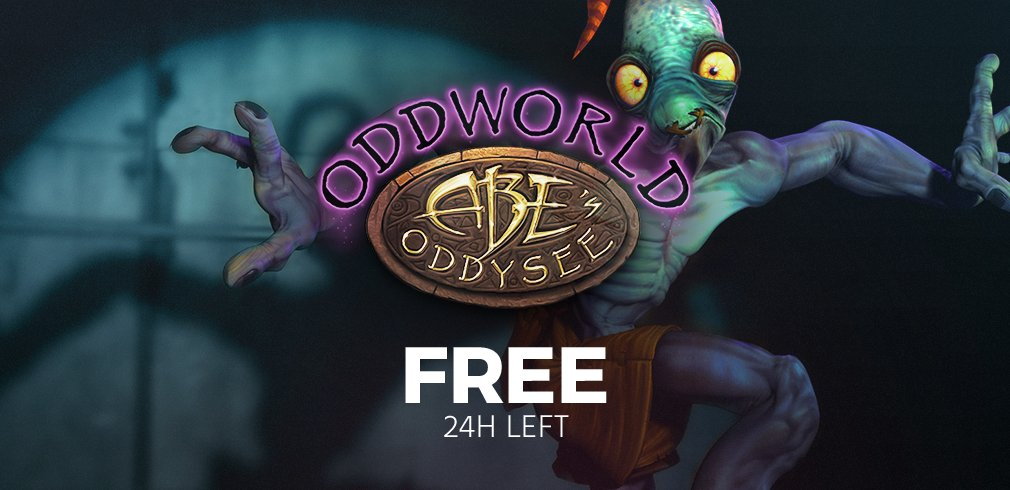 Less than a day left to grab a free copy of Oddworld: Abe's Oddyssee!...