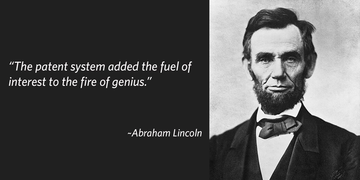 Today's #WednesdayWisdom from Abraham Lincoln, the 16th U.S. president. #Patent #IP