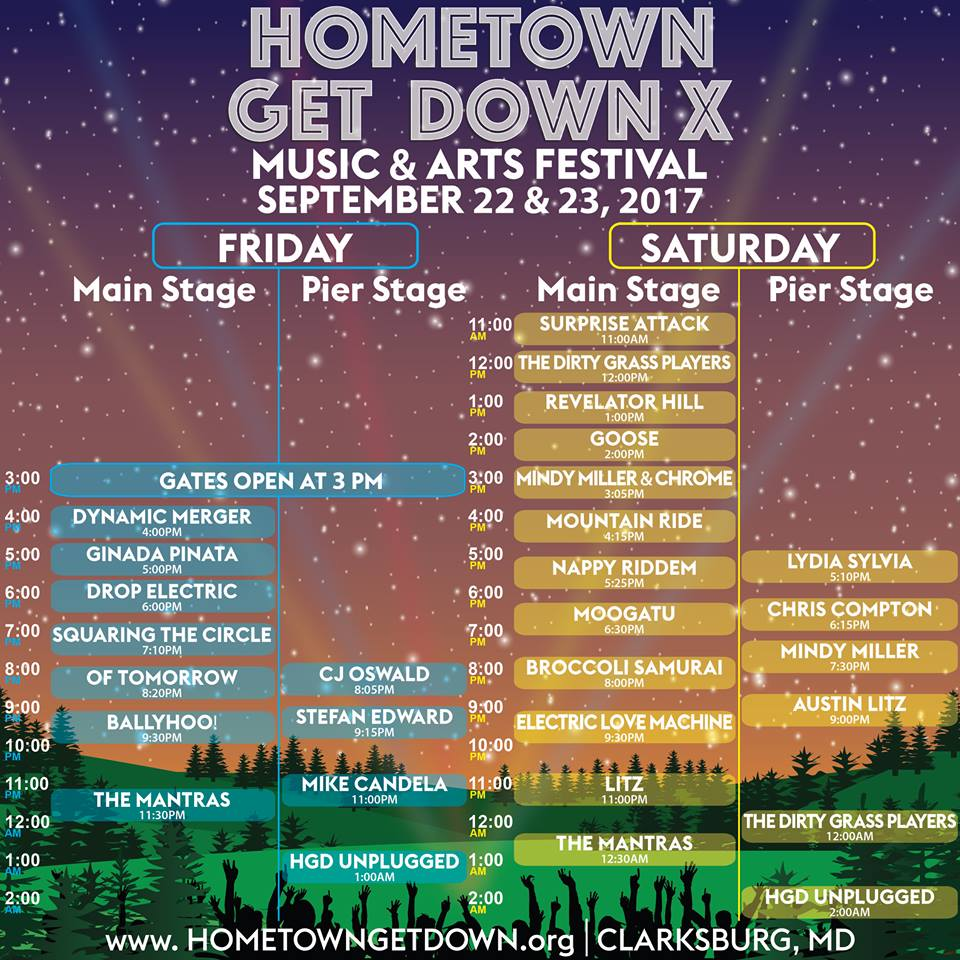 #HometownGetDown schedule! #funk #rock #rockandroll #musicfestival #livemusic #jam #jamband #reggae #festival #festivalseason #rage<br>http://pic.twitter.com/yNJ3L62JYu
