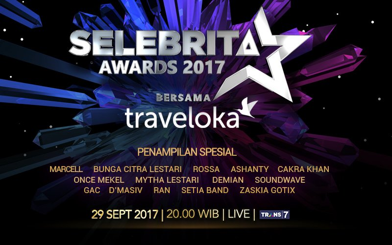 Selebrita Awards 2017 Trans7 Bersama Traveloka