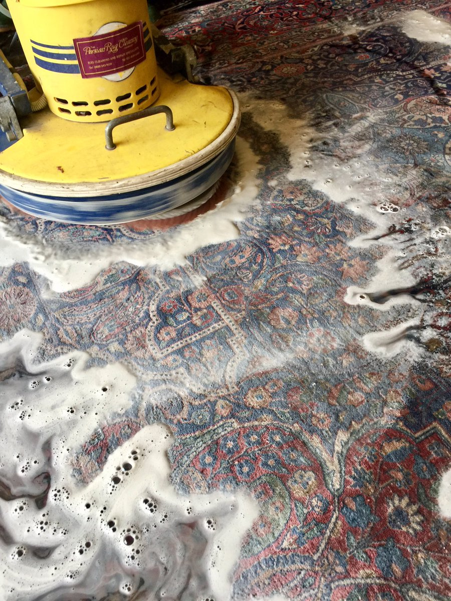Persian Rug Cleaning On Twitter Hiness Is Washing An Antique Kashan With Exquisite Design And Super Soft Wool