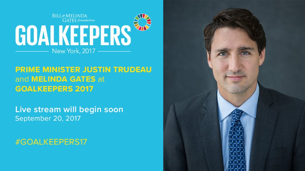 I'm live with Prime Minister @JustinTrudeau talking about the incredible power of women's movements. #Goalkeepers17  http:// m-gat.es/2hgQ2g7  &nbsp;  <br>http://pic.twitter.com/sPIq7qXvMs