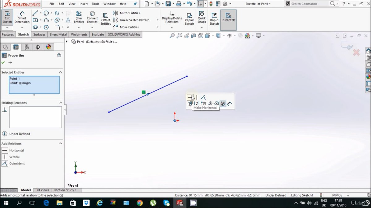 photoshop risen: solidworks sketch Relations and fully