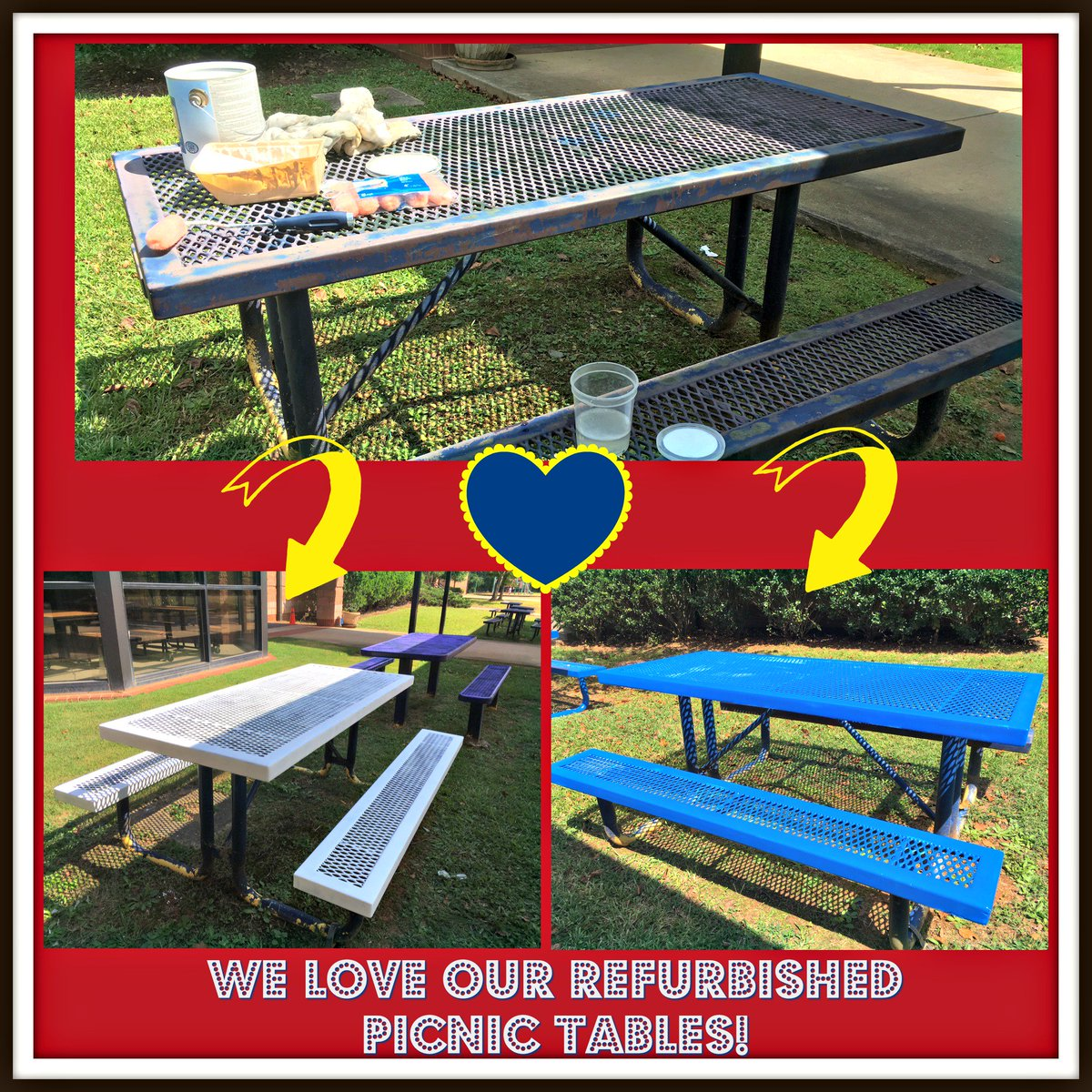 SBCE PTA On Twitter Thank You To Lynda Nicolay Bobcat - Spruce picnic table