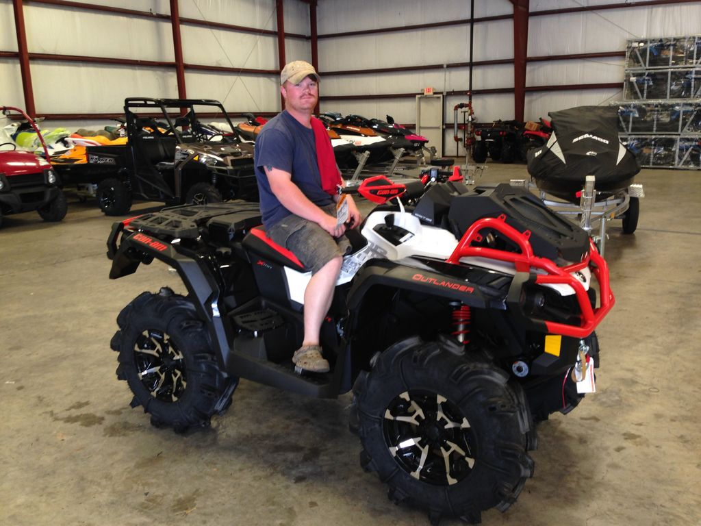 Congratulations to Joseph Holcomb from Wilmer, AL for purchasing a 2017 Can-Am Outlander Xmr 1000R from Hattiesburg Cycles. #canam <br>http://pic.twitter.com/XPxWhpNaNS