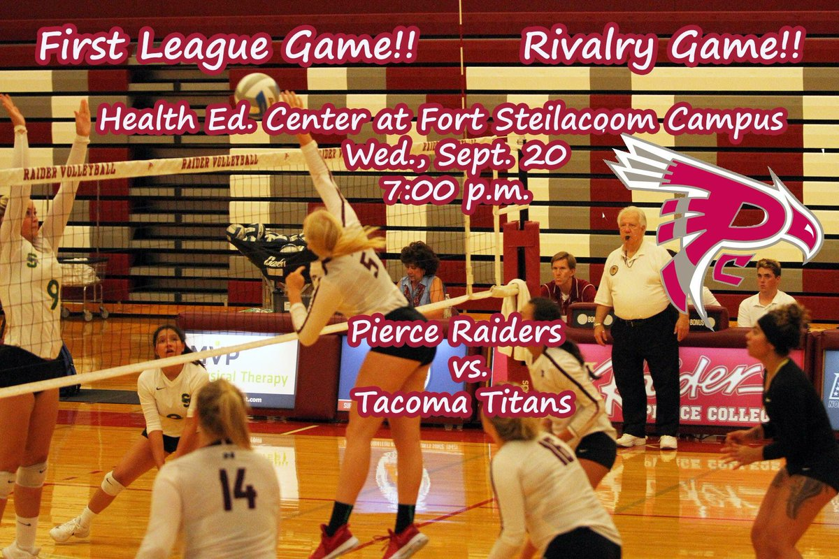 GAMEDAY: Volleyball vs. @TacomaCCTitans at 7:00 p. Fort Steilacoom Health Ed. Ctr. First league game. #Volleyball #IamLakewood @southtacoma<br>http://pic.twitter.com/0vk5QOGHe3
