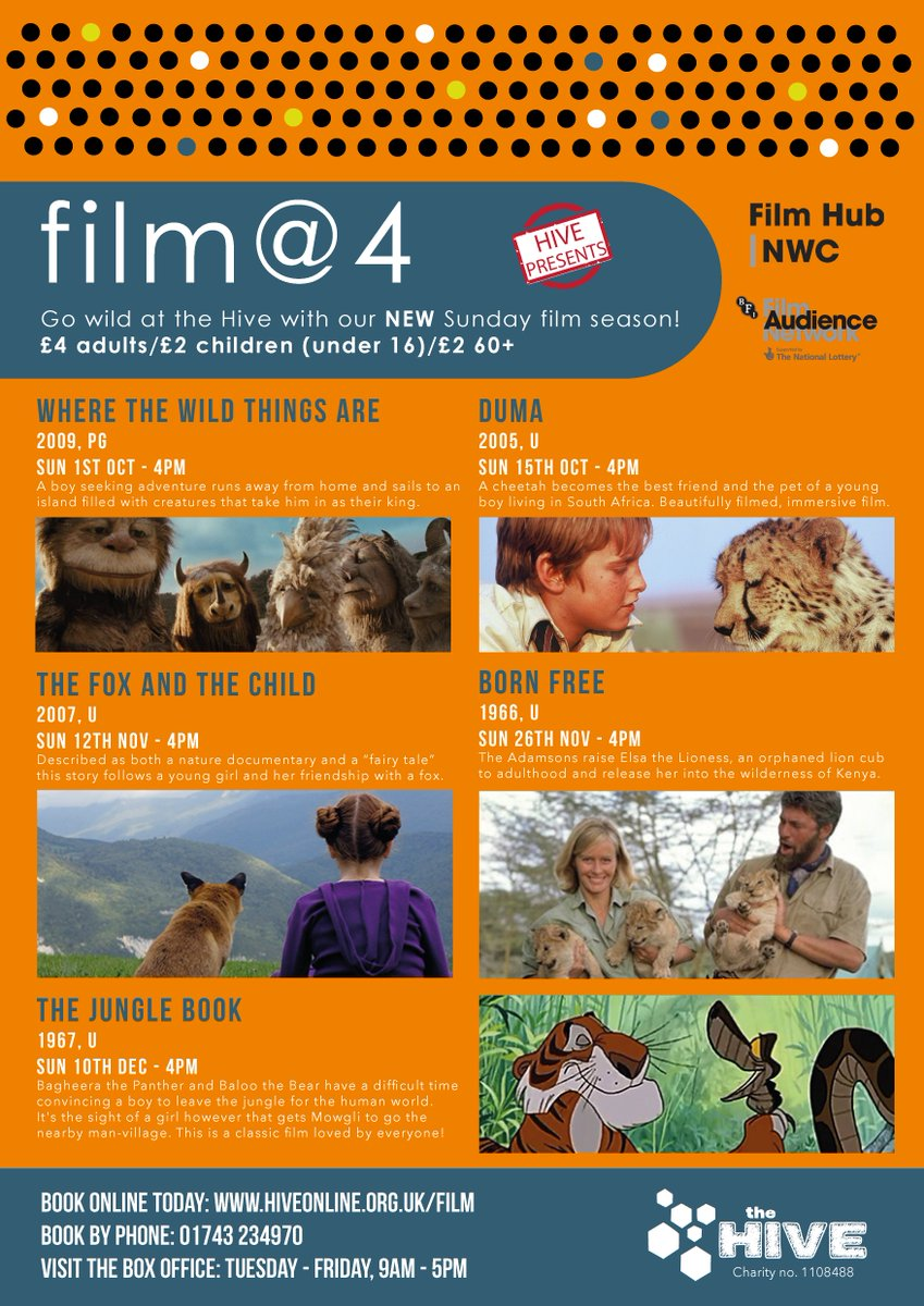 Hive Shrewsbury On Twitter Our Wildathive Film At 4 Lineup