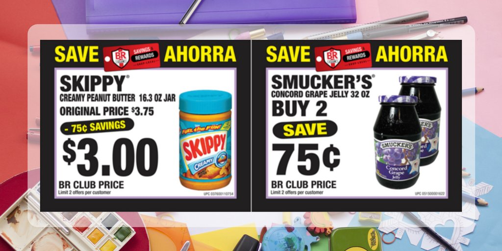 Packing a #school lunch for your kids? Why not PB&amp;J? Both on #sale this month with a BR Club membership.   Join now:  http:// brclubsaves.com  &nbsp;  <br>http://pic.twitter.com/kPmD8FOcd0