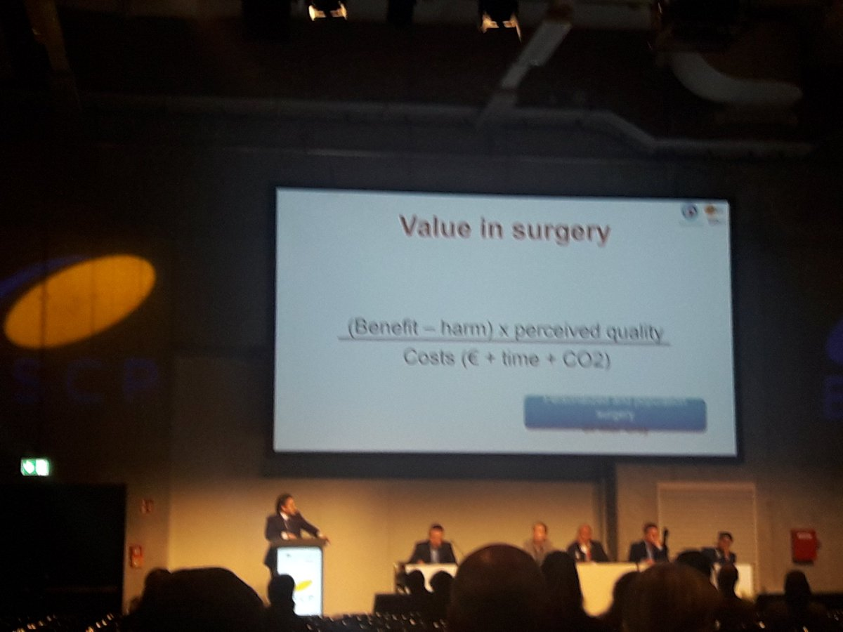 &quot;Value in surgery&quot; Prof. Julio Mayol @juliomayol @escp_tweets #colorectalsurgery #ESCPBERLIN2017<br>http://pic.twitter.com/4NDXKmsXTs