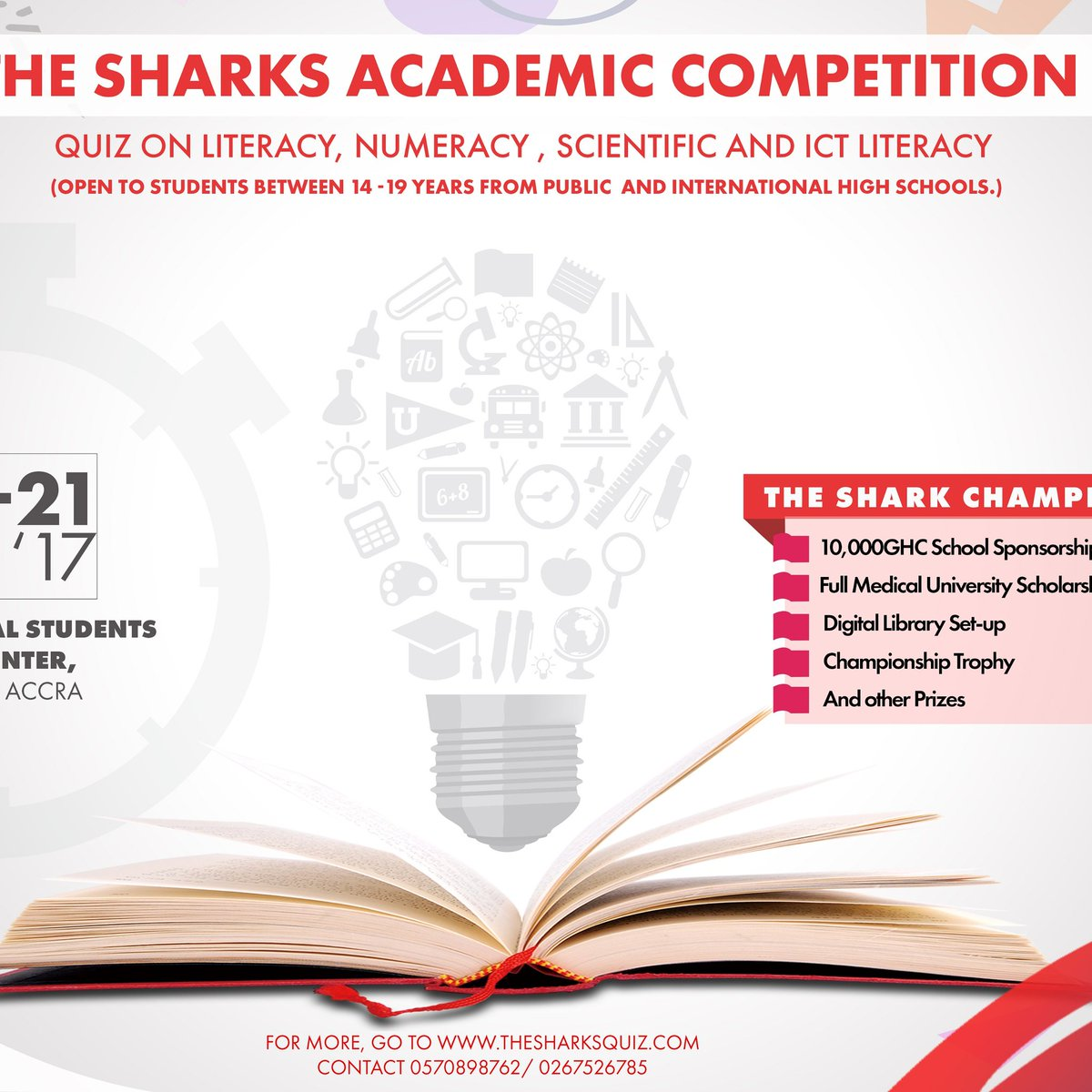 #TheSharks GH is happening exactly one month from today. 10,000 GHS, Championship Trophy etc #RiseToTheChallenge #Willyourschoolcontest.<br>http://pic.twitter.com/iLtSkmltlY