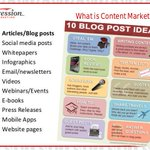 What Is Content #Marketing: 10 Blog Post Ideas [Infographic]  #Blogging #ContentMarketing #ContentStrategy #GrowthHacking #Startups