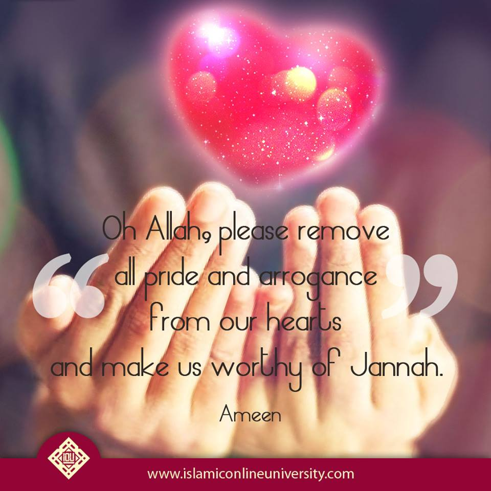 Oh #Allah please remove all pride and arrogance from our hearts and make us worthy of Jannah. Ameen. #Muslims<br>http://pic.twitter.com/jnRiVdmCtl