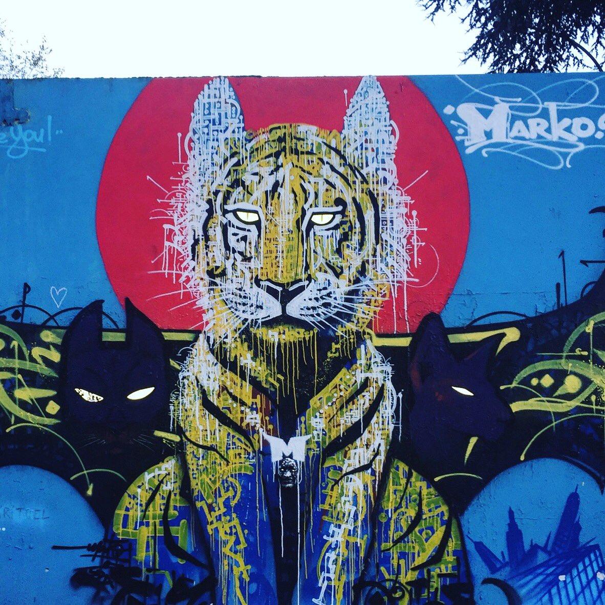 The eyes of the Tiger by @Marko93 #marko93 #darkvapor #calligraphy #tiger #eyes  #streetart #graff #spray #bombing #wall #urbanart #graffart<br>http://pic.twitter.com/3RV2mNxLTT