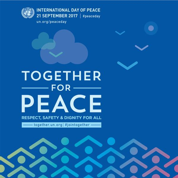 #JoinTogether for peace: respect, safety & dignity for all.  Thurs...