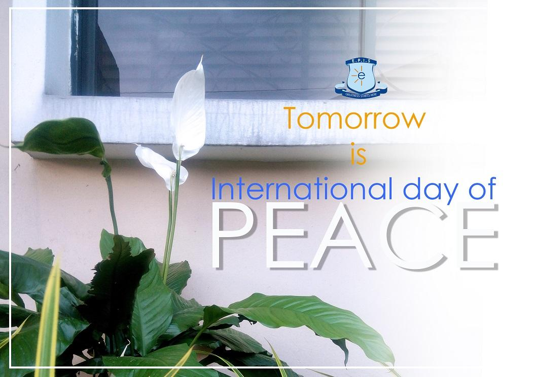 We are a peace-loving #school. Watch this space as we mark #worldpeace day #tomorrow. #LoveEPIS @UN @RebeccaOrafu<br>http://pic.twitter.com/M8o9EXglPa