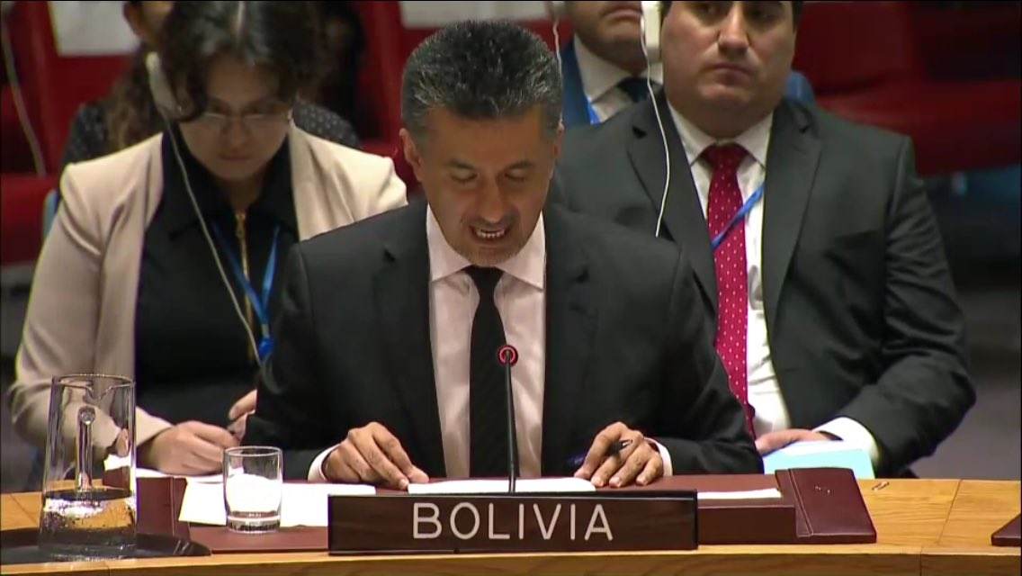 &quot;Bolivia calls for an end to unilateral blockade of #Cuba... US should pay reparations&quot; #Bolivia at #UNSC<br>http://pic.twitter.com/EMaZ9Ubd8u